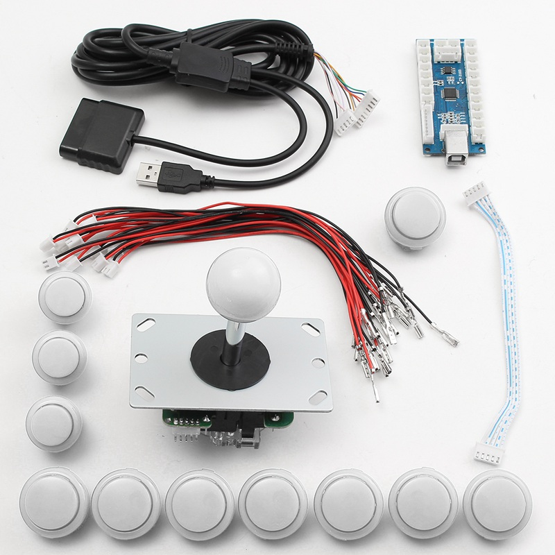 DIY Zero Delay USB Encoders Board Arcade Game Set 24mm/30mm Buttons 5Pin Gaming joystick for PS2 for PS3 for Android saint petersburg board game cards game 2 5 players family game for children with parents free shipping