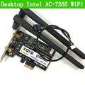 Desktop AC-7265 802.11AC Двухдиапазонный 867 Мбит PCIe Bluetooth 4.0 Wi-Fi Адаптер Intel 7265NGW WI-FI КАРТА 7265 WLAN