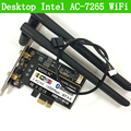 Escritorio ac-7265 802.11ac pcie bluetooth 4.0 wifi de banda dual a 867 mbps adaptador intel 7265ngw tarjeta wifi wlan 7265