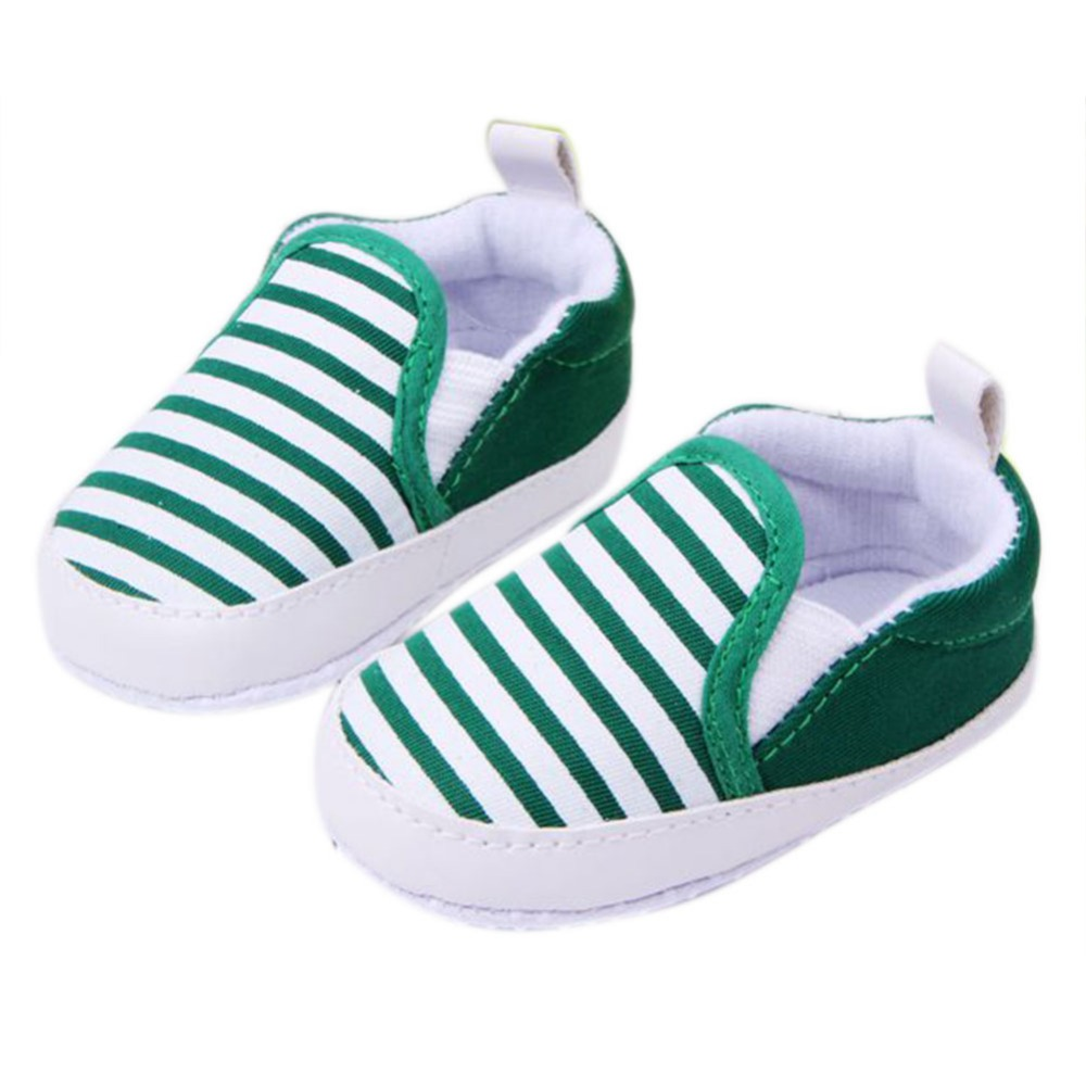 Best buy Kids Toddler Baby Unisex Boys Girls Striped Anti Slip Sneakers Soft  Bottom Shoes Drop Shipping online cheap 7cd1dc936f2a