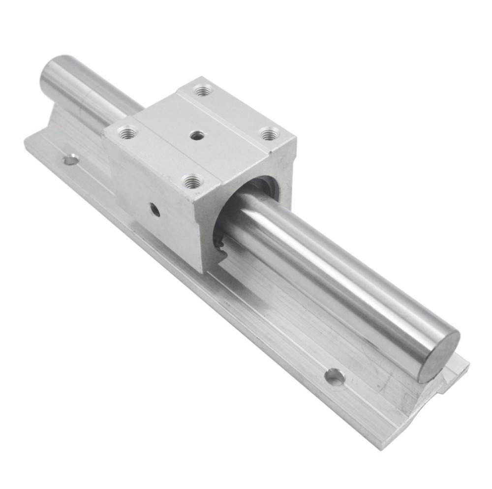 Silver SBR20UU Open Roller Bearing Slide Block SBR20 Linear Bearing 200/300/400/500mm Rail Guide with 20mm Dia Shaft Pack of 2 ball linear rail guide roller shaft guideway toothed belt driven