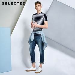 Отобранные свободные джинсовые брюки для отдыха с потертостями | 418232517