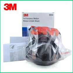 Masque respiratoire Original de protection de marque de masque de gaz de respirateur de 3 M 6800 contre le gaz organique avec 6001/2091 fiter