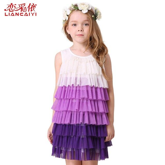 Liancaiyi Mode Mädchen Sommerkleid 2017 Jugendliche Mädchen Partei ...