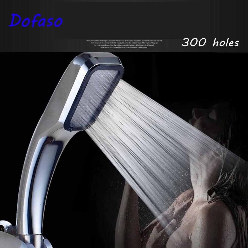 Dofaso Hand Shower 300 hole Pressurized Water Saving shower head high pressure ABS showerhead Bathroom Handheld Shower Spray gappo white shower head showerhead abs water booster high pressure boost water saving shower head