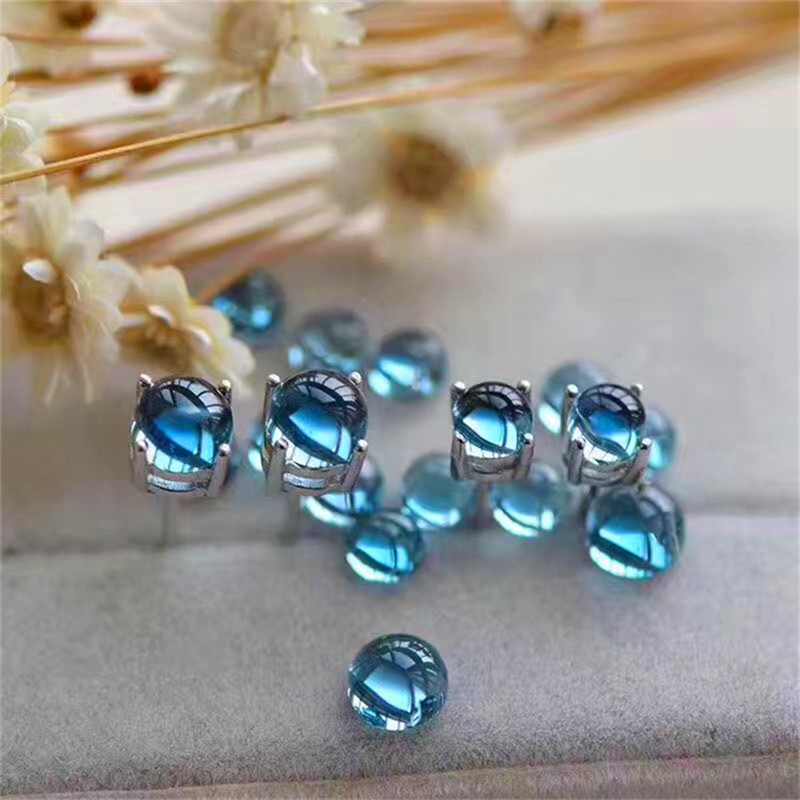 Natural Swiss Blue Topaz Earrings Women 925 Sterling Silver Oval Stud Earrings Female Gift Gemstone Jewelry jewelrypalace halo 2 6ct swiss blue topaz stud earrings 925 sterling silver fine jewelry new earrings for women party gift