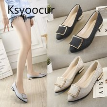 Brand Ksyoocur 2019 Spring New Ladies Flat Shoes Casual Women Comfortable Pointed Toe Shoe 18-029