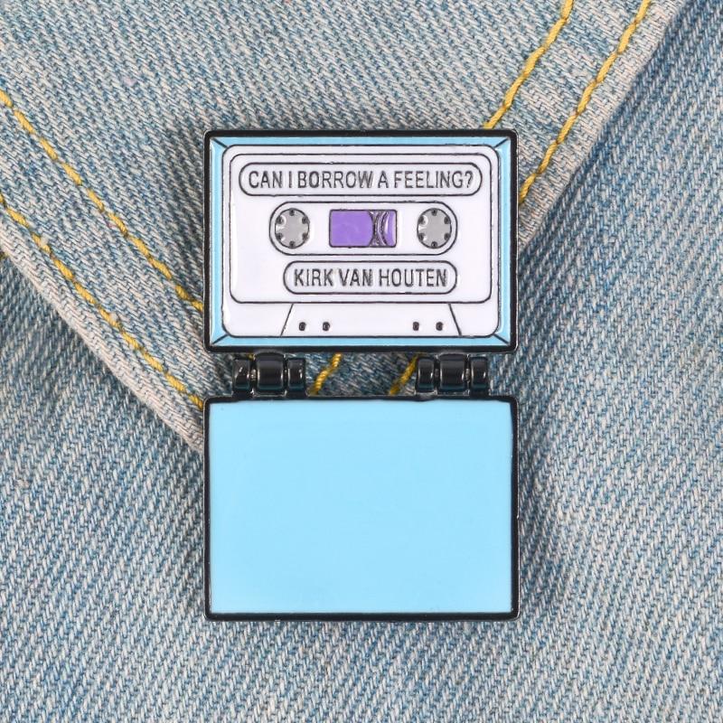 Retro Tape Enamel Pin Good Vibes Cassette Brooches Brooch Badge Emblem Corsage Metal Fashion Music Pins Gift for Women Girl Men Children Kids