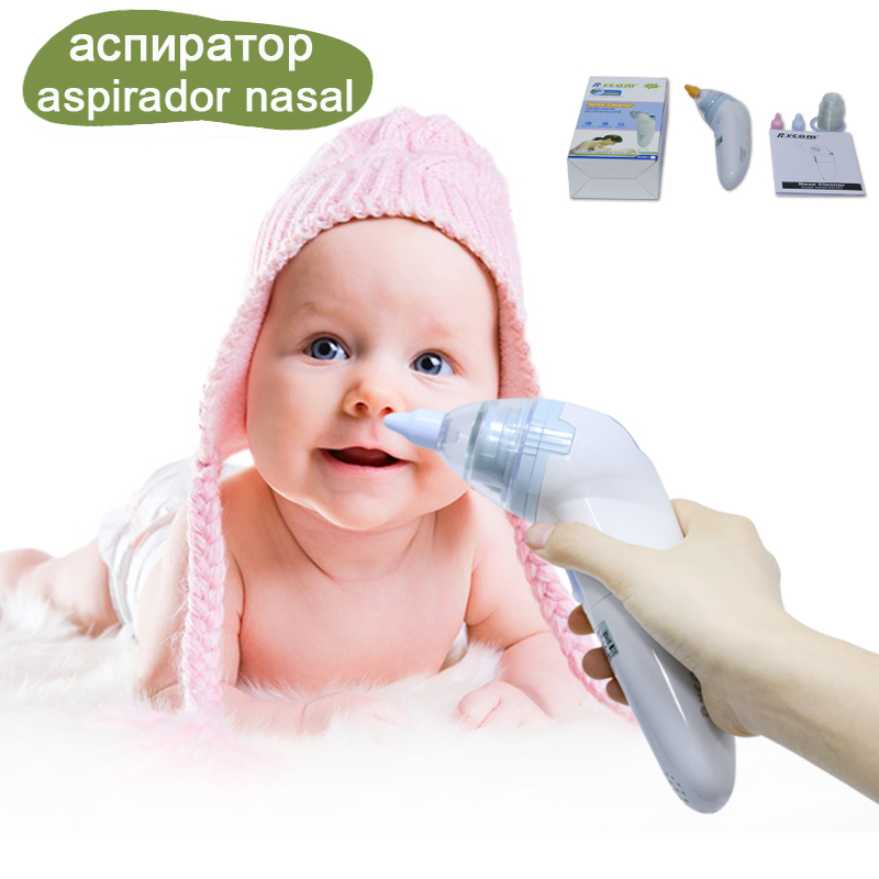 New Born Electronic Nose Cleaner Baby Nasal Aspirator 20 Pcs Hygienic Disposable Caps Digital Nasal Cleaner For Baby