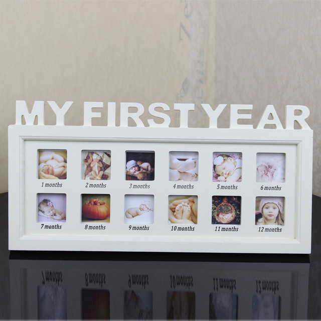Artificial Board Photo Frame Baby My First Year Picture Frame ...
