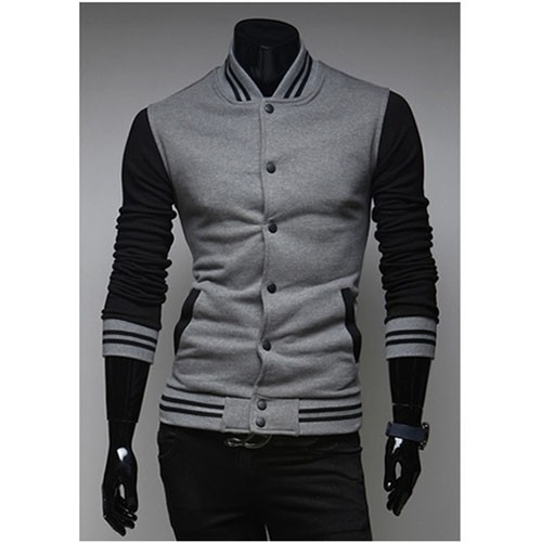 прямая поставка новый контраст цвета мужчин футболка, 2015 мода свободного покроя мужские вкус тонкий специальной установки мужская вкус, пальто спорт человек