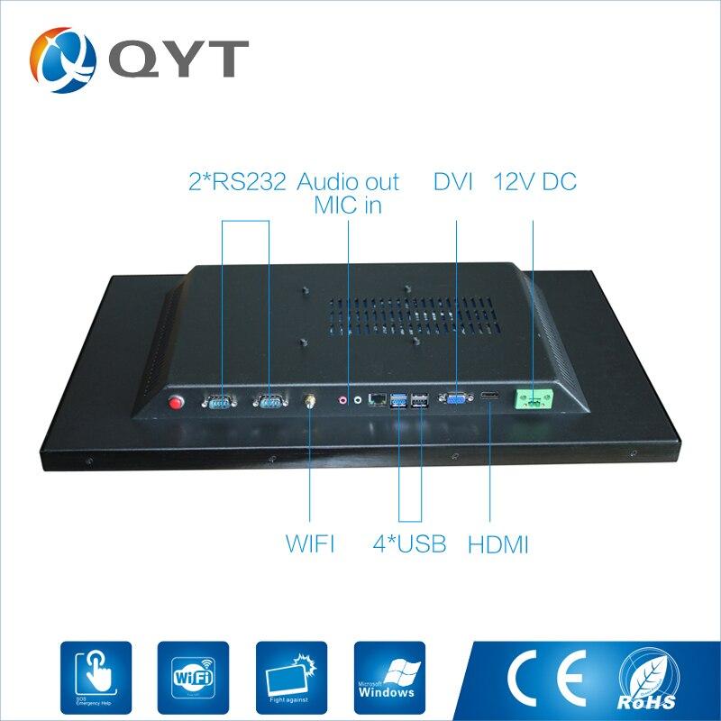 22 Промышленные Панель PC Разрешение 1680x1050 2 ГБ Оперативная память 32 г SSD резистивный сенсорный J1900 Установка Desktop настенный встроенный