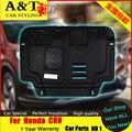 A & T estilo do carro Para Honda CRV guarda Motor Para Honda CRV 2015 dedicado Motor placa skid Chassis de aço modificado