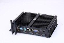 Безвентиляторный мини-ПК промышленный компьютер с USB 3,0 двойной гигабитный Lan 4 COM HDMI Intel Celeron C1037U Core i5 3317U Windows XP Linux