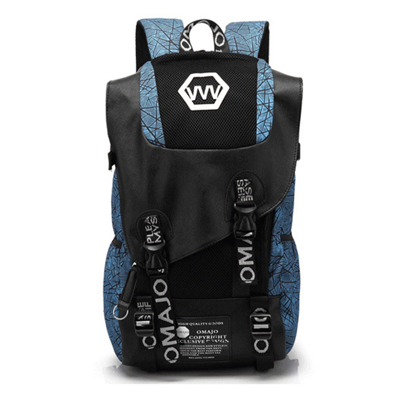 2020 Korean Style Student Backpacks for Teenage Boys & Girls <font><b>Canvas</b></font> Printing Letter School <font><b>Bag</b></font> Rucksack <font><b>Mochila</b></font> <font><b>Escolar</b></font> XA537YL image