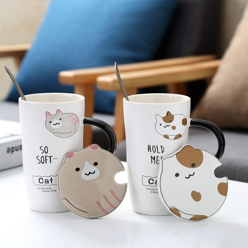 Buy Cute Cartoon Cat Ceramic Mug Creative