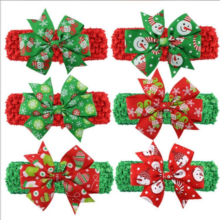 Free Shipping Wholesale 200pcs Ribbon Christmas Hair Bows With Soft