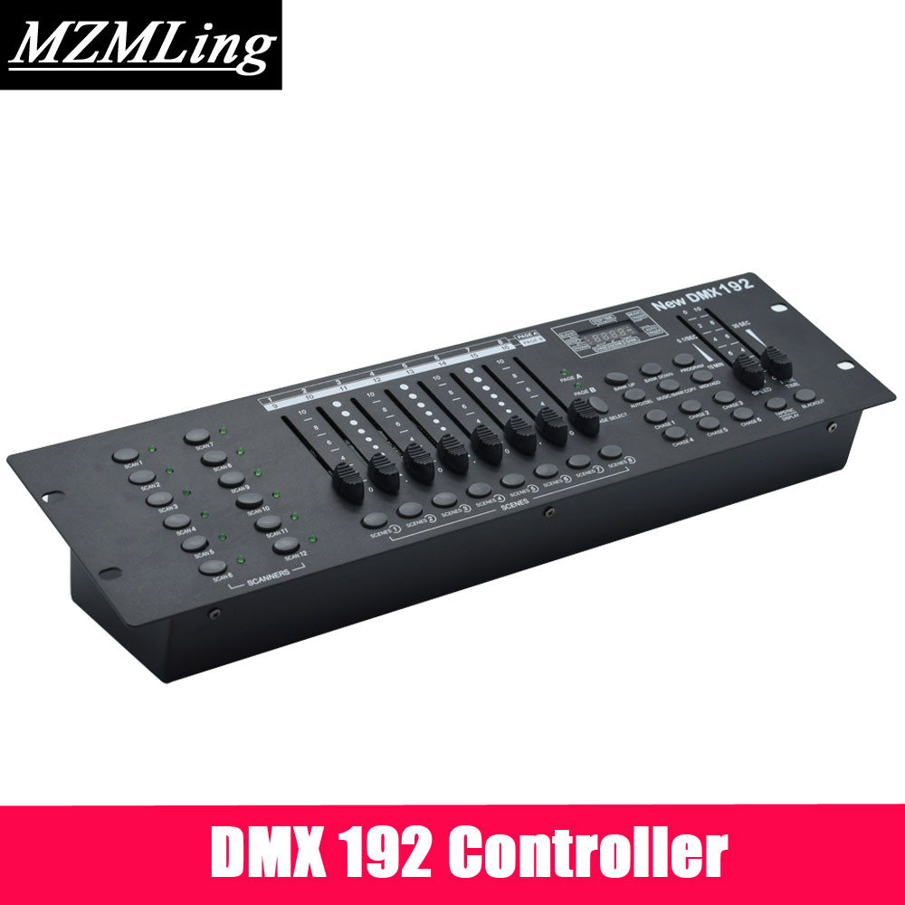 DMX192 Controller & DMX Controller For Stage Light /Moving Head Light/Beam Light /Par Light /Fog Machine DJ/ Party/ Show Machine 2pcs high quality 512 dmx console stage light equipment 192 dmx controller for stage lighting led par beam lights