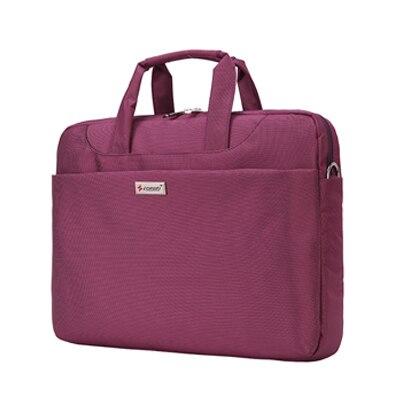 14-15 inch Laptop Bag Women Men Notebook Bag Shoulder Messenger Waterproof Computer Sleeve Handbag (Purple)