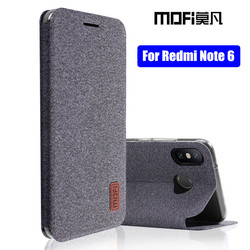 Xiaomi Redmi Note 6 case global redmi note 6 pro flip cover fabric full protective silicone case coque MOFi original note6 case