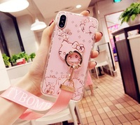 For IPhone X 6 6s Plus Case For Iphone 7 Plus Bing Hello Kitty Diamond Back