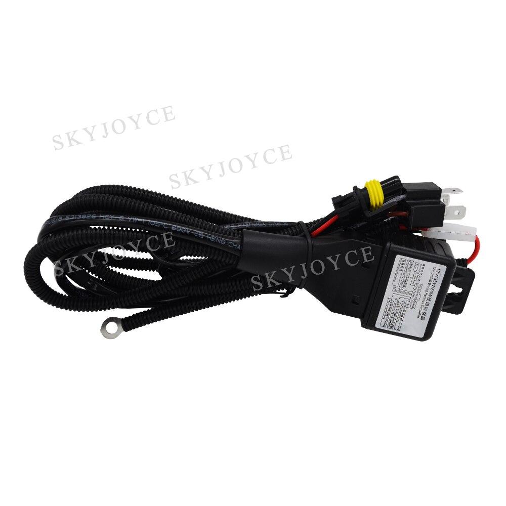 12v35w55w Wiring Harness Controller Diagram Fuse Box H13 Skyjoyce 12v 35w 55w H4 Relay 3 9007 Rh Aliexpress