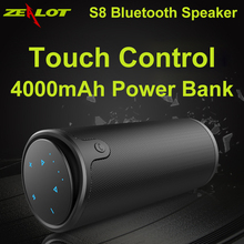 Handsfree Wireless Portable Speaker Touch Operation Mini Enceinte Altavoz Bluetooth Speaker Power Bank AUX TF Card Slot Cover