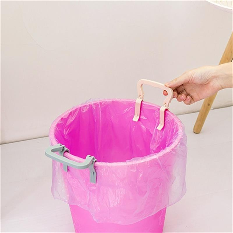 1 Pcs Home Creative Plastic Portable Garbage Bag Fixing Anti slip Clip Buckle Barrel Side Holder Household Tool Convenient Life-in Clothes Pegs from Home & Garden