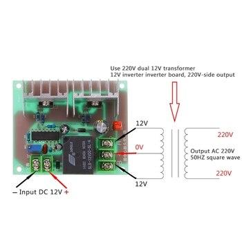 300W Inverter Drive Board DC 12V to AC 220V Inverter Drive Cord Transformer Low Frequency Inverter