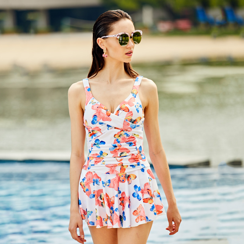 ZOKE womens swimsuit, Siamese clothing,Beach beach swimming pool hot spring swimsuit