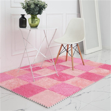 4/6/9 Pieces Fluff Carpet 30*30cm Foam Puzzle Mat Square Stitching Bedroom Rugs Living Room Splice Child Crawling Mats 2017 eva foam mats child puzzle carpet imitation wood bedroom living room rugs home floor mats stitching map baby crawling pad