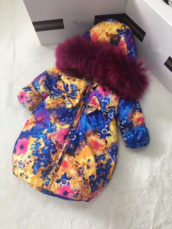 Vêtements d'extérieur nouveau-né 2018 hiver veste longue pour enfants vêtements sortants sacs de couchage à capuche double fermeture à glissière combinaison de ski