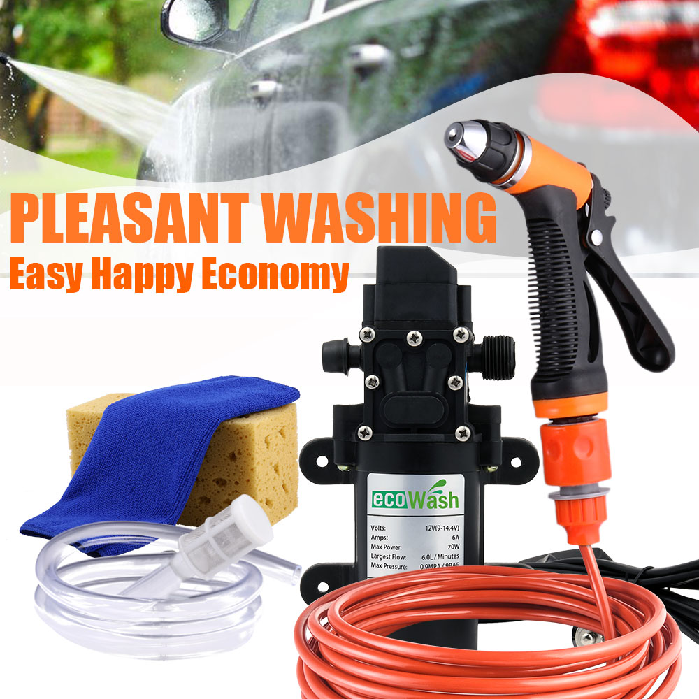 12V Car Wash Car Washer Gun Pump High Pressure Cleaner Car Care Portable Washing Machine Electric Cleaning Auto Device