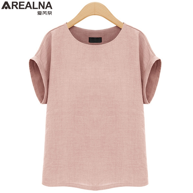 AREALNA Summer Fashion shirt women tops Short Sleeves Female Blouses Casual Loose office blouse Blusas femininas Plus Size 5XL