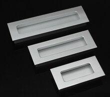 2 Шт. Шаг отверстий 64 мм 96 мм 128 мм Алюминиевый сплав скрытые ручки Кухня корпусная Мебель ручка ящика ручка HM58
