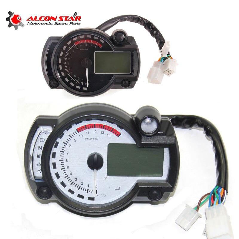 Alconstar Adjustable Motorcycle speedometer LCD digital Odometer motorbike speedometer Universal all motorcycle MAX 299KM H