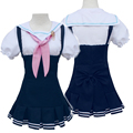 Anime Love Live Cosplay Costume Nozomi Tojo Kawaii Daily Navy Blue Sailor Dress Halloween Costume New Free Shipping