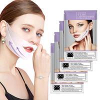 4 шт./кор. 4D двойной V для лица укрепляющая маска устраняющий отеки маски