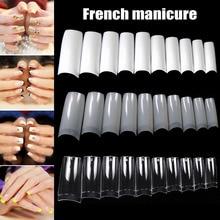 100/500 шт ногтей половинные французские накладные ногти для дизайна ногтей, акриловые УФ-гелевые маникюрные наконечники@ ME88