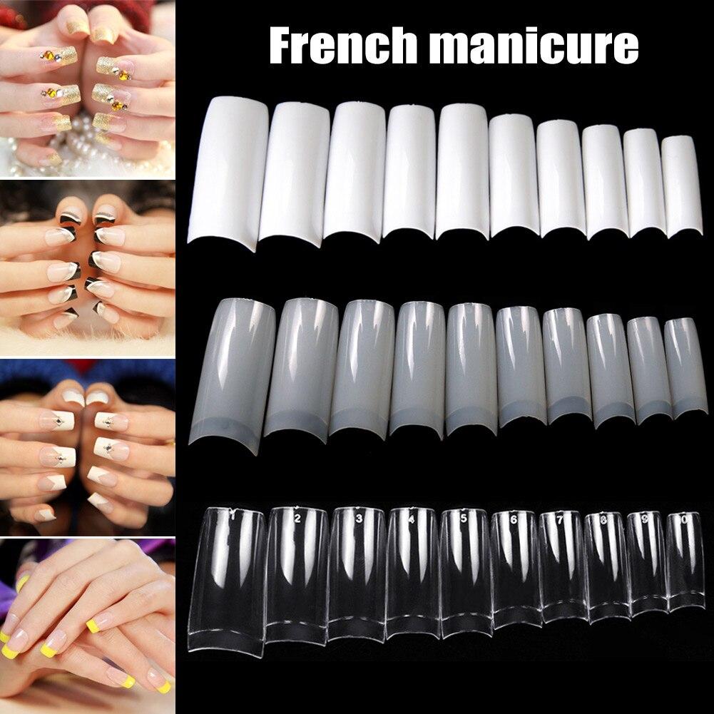 100/500pcs Nails Half French False Nail Art Tips Acrylic UV Gel Manicure Tip @ME88