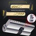 Grado C cilindro Anti-robo de cerradura de la puerta de núcleo de cobre Universal cromado personalizar cilindros europeo y americano de las normas