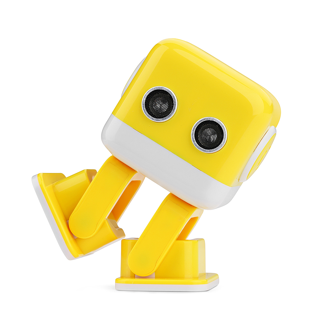 New Arrival WLtoys F9 Cubee APP Control Intelligent Dancing Gesture RC Robot RTR - Yellow/Blue Toy Robot Gift For Children boys f4 intelligent gesture recognition robot mobile phone app wifi remote control toys camera walking dancing robot rc model