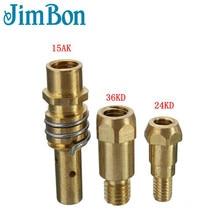 JimBon Замена Сварки MIG газовое сопло кожух для сварочного аппарата фонарь наконечник Золото 15AK 24KD 36KD