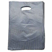 New Arrival Plastic Useful Boutique Gift Bags 100pcs/lot black & White Striped Packing Carrier bags 25*20cm153512