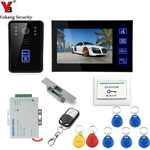 Yobang Security 7 Inch Video Door Phone Door Intercom Video Intercom Doorphone IR Night Vision Camera Monitor Kit For Home