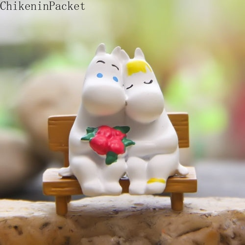 ChikeninPacket Moomin Bench Garden  Decoration Micro Landscape Plants