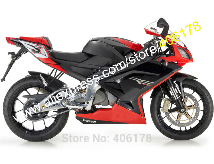 Hot Sales,Red Black For Aprilia RS125 2006 2007 2008 2009 2010 2011 RS 125 06-11 ABS Motorcycle Fairing (Injection molding)