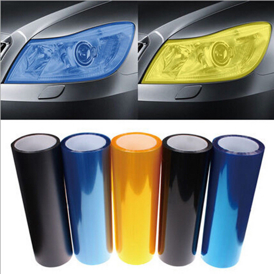 New Arrival 1pc 30*60CM PVC Car Vehicle Headlight Tail Light Vinyl Film Wrap Sticker Decal 5 Colors-in Car Stickers from Automobiles & Motorcycles