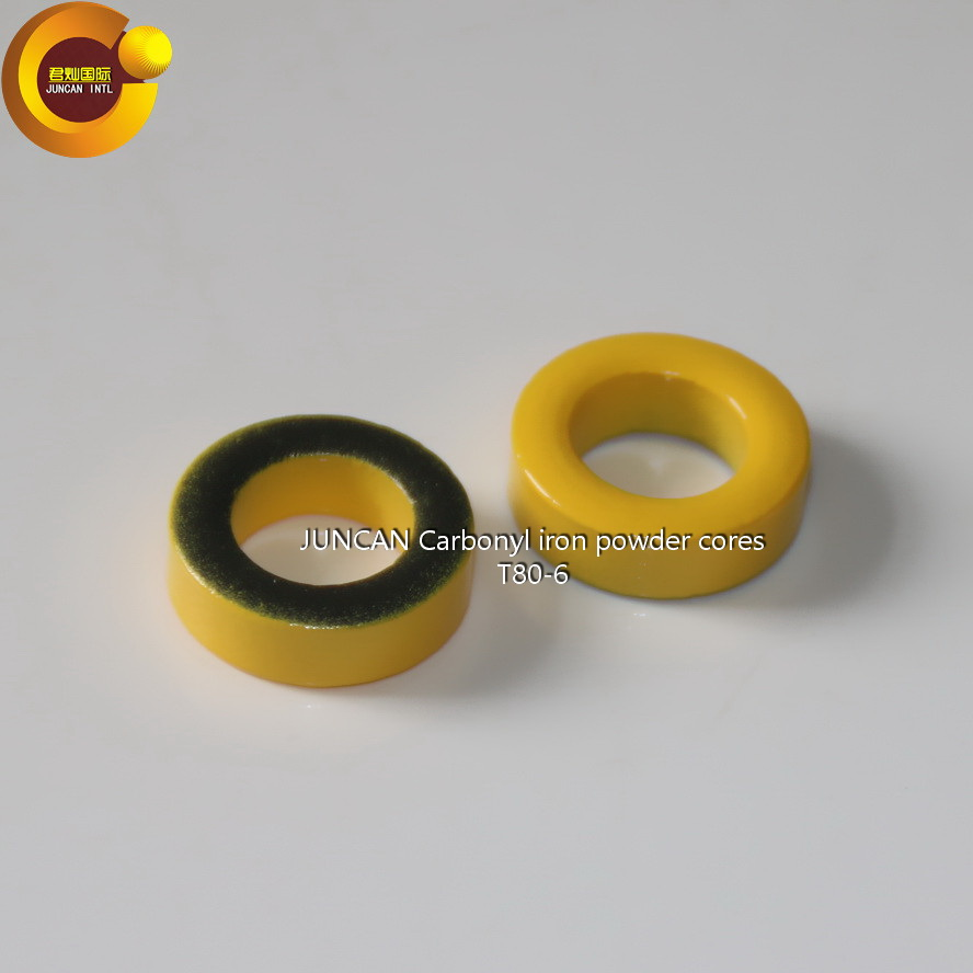 T80 6 Carbonyl iron powder cores high frequency radio frequency magnetic core