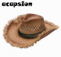 Cowboy Hats Men Women Western Cowboy Hat Ethnic Men Hats Sombrero Hombre Jazz Visor Caps Lifeguard Hat Chapeau Homme Cowboy A052